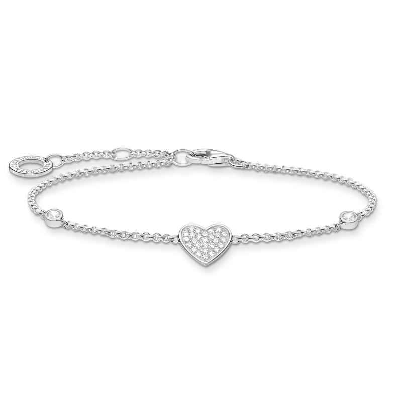Thomas Sabo A1992-051-14-L19v Silber-Armband Herz mit Steinen 4051245487565