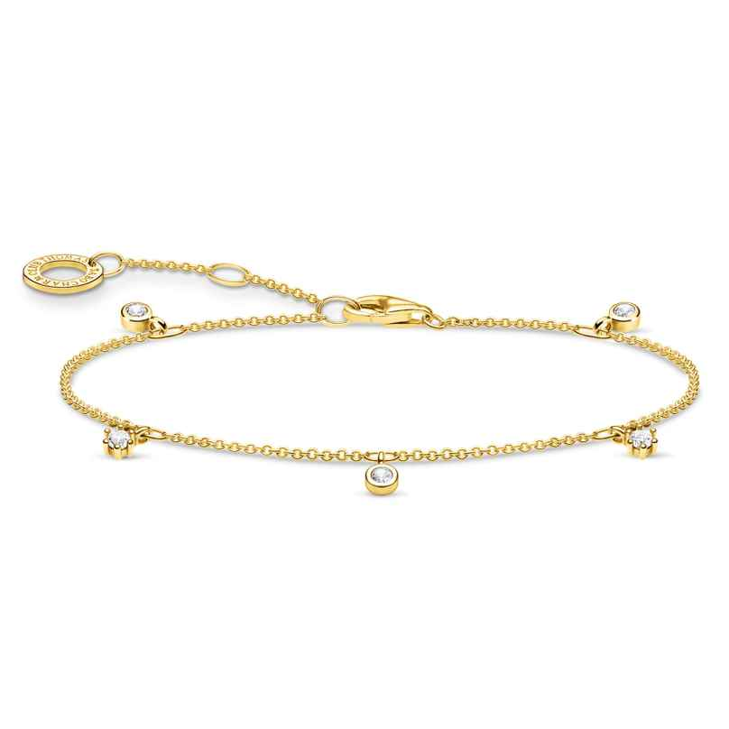 Thomas Sabo A1998-414-14-L19v Damenarmband weiße Steine goldfarben 4051245487664