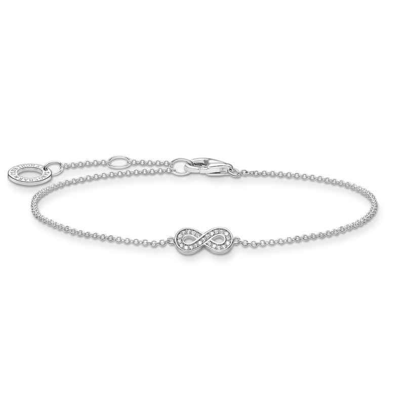 Thomas Sabo A2003-051-14-L19v Silberarmband für Damen Unendlichkeit 4051245487756