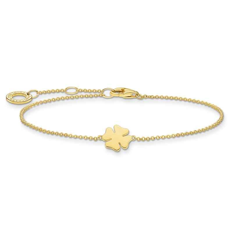 Thomas Sabo A1990-413-39-L19v Ladies´ Bracelet Cloverleaf gold-coloured 4051245487534