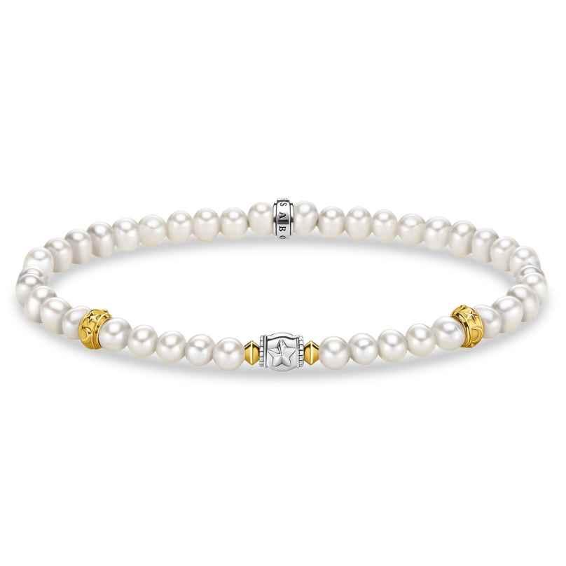 Thomas Sabo A1979-430-14 Damen-Armband Perlen mit Halbmond