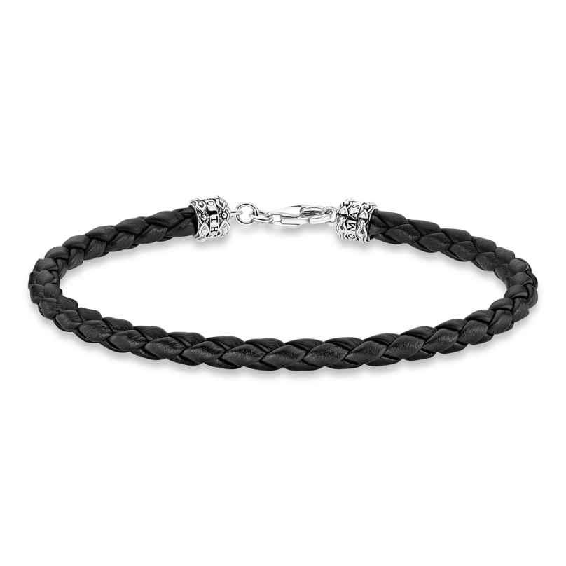 Thomas Sabo A2011-682-11 Unisex-Armband Leder Schwarz