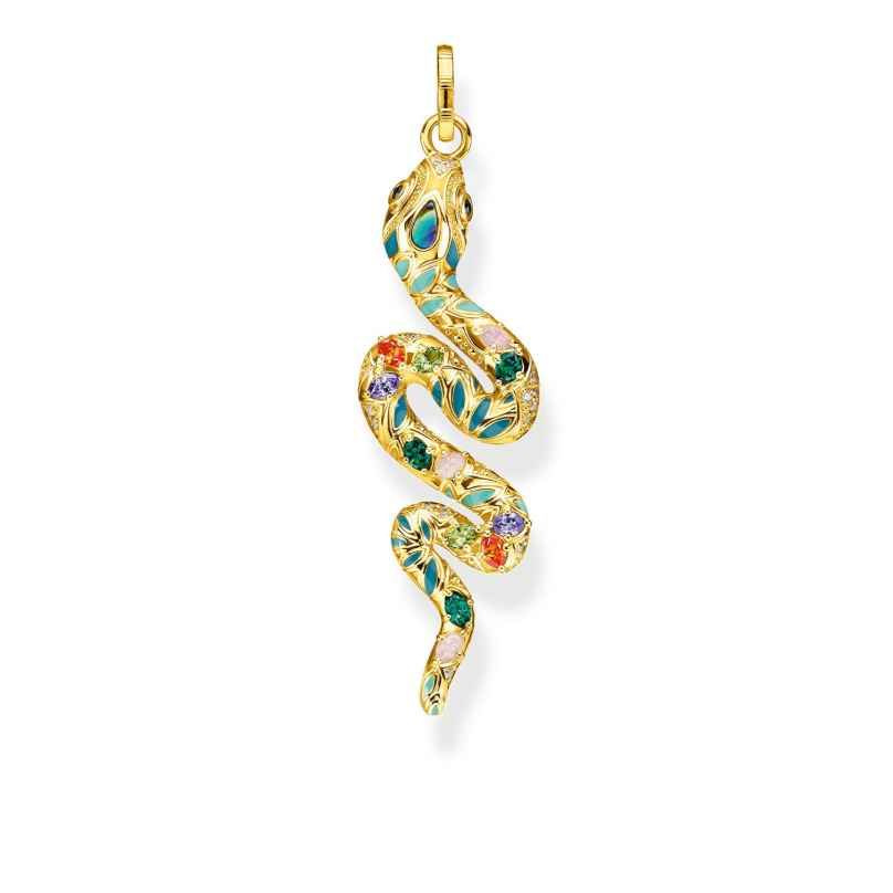 Thomas Sabo PE879-974-7 Pendant Colourful Snake gold-tone 4051245475692