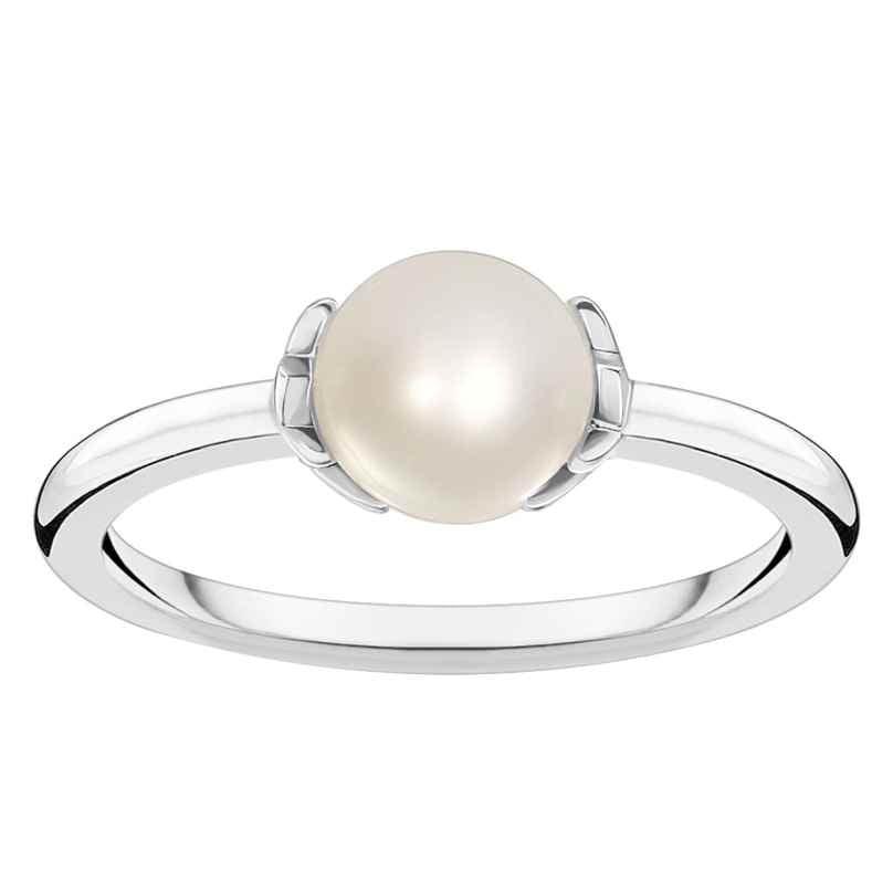 Thomas Sabo TR2298-167-14 Damenring Perle mit Sternen Silber