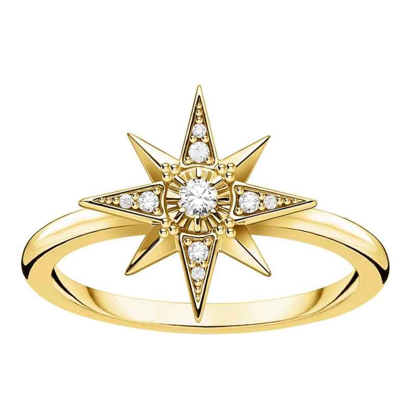 Thomas Sabo TR2299-414-14 Damenring Stern Silber vergoldet