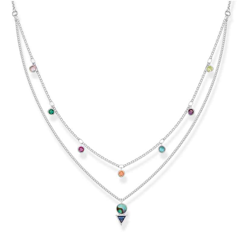 Thomas Sabo KE1844-983-7-L45v Ladies´ Necklace Colourful Stones 4051245430813