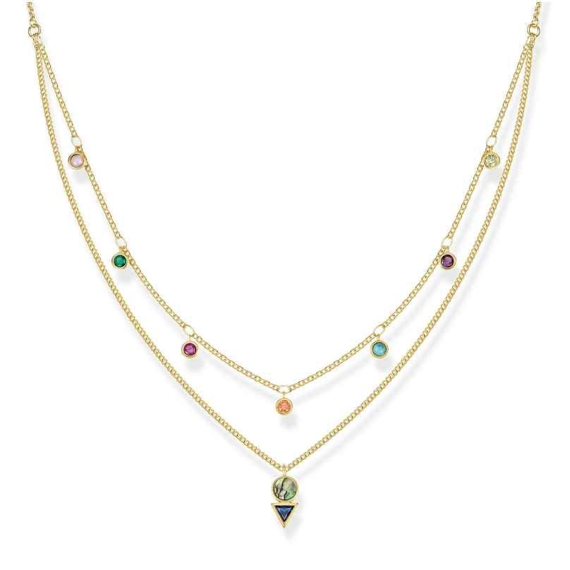 Thomas Sabo KE1844-993-7-L45v Ladies´ Necklace Colourful Stones 4051245430820