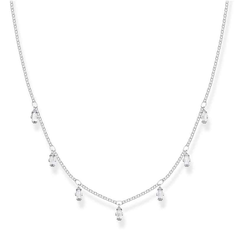 Thomas Sabo KE1903-051-14-L40V Silber Damen-Halskette Baguette Form 4051245450972