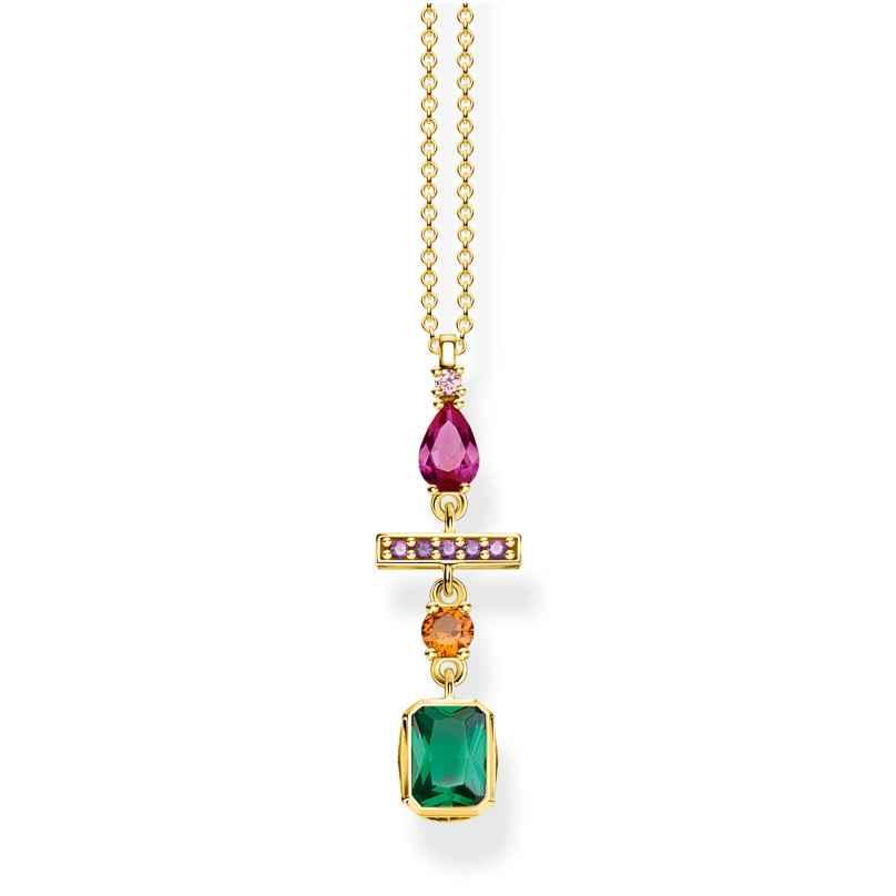 Thomas Sabo KE1892-488-7-L45v Damen-Collier Farbiger Formenmix Goldfarben 4051245450989