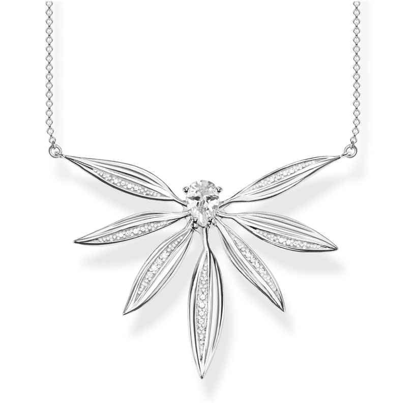 Thomas Sabo KE1950-051-14-L45v Damen-Halskette Blätter Silber groß 4051245475616