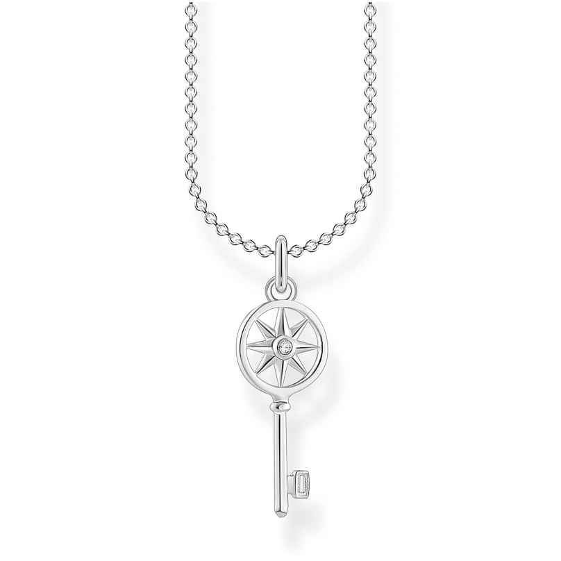 Thomas Sabo KE2041-051-14-L45v Damen-Silberhalskette Schlüssel mit Stern 4051245488159