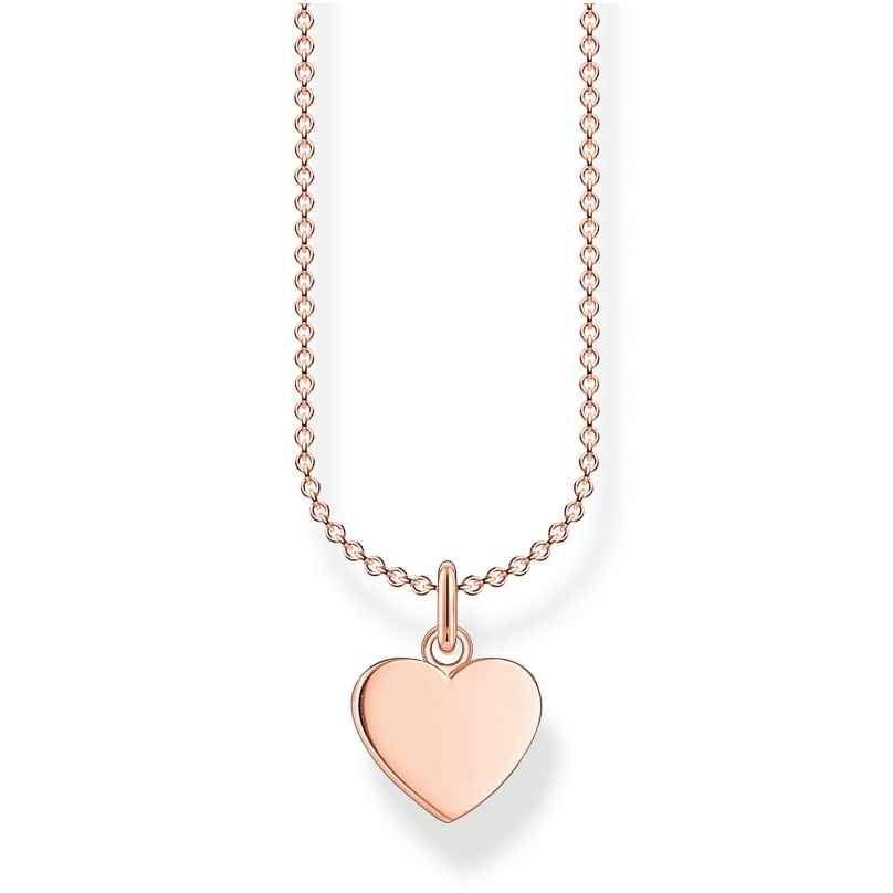 Thomas Sabo KE2048-415-40-L45v Halskette für Damen Herz roségoldfarben 4051245488258