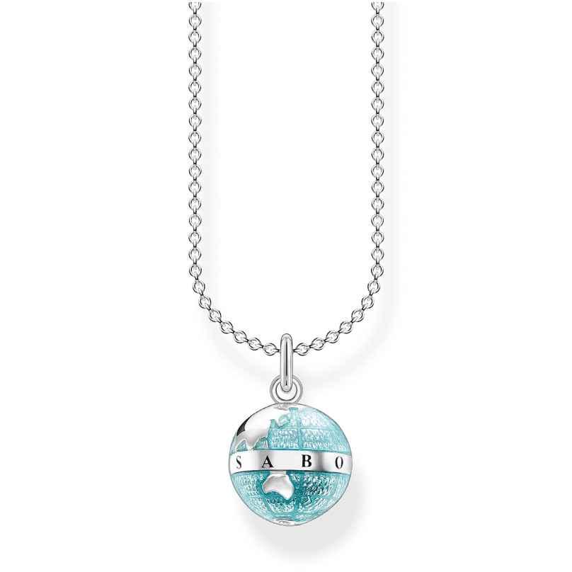 Thomas Sabo KE2061-007-1-L45v Halskette für Damen Weltkugel 4051245488418