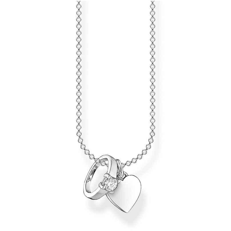 Thomas Sabo KE2064-051-14-L45v Silber-Halskette Ring mit Herz 4051245488449