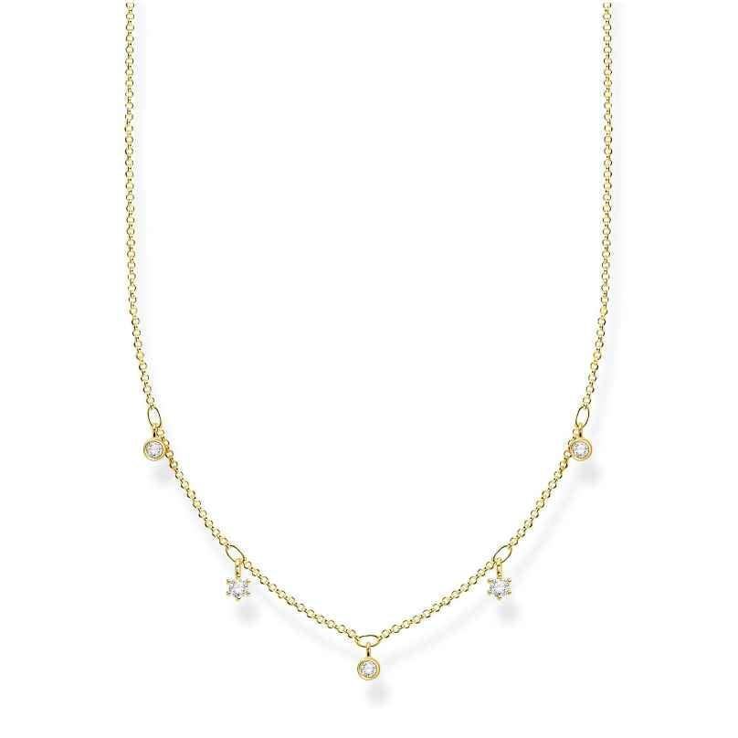 Thomas Sabo KE2071-414-14-L45v Damencollier vergoldet mit weißen Steinen 4051245488555