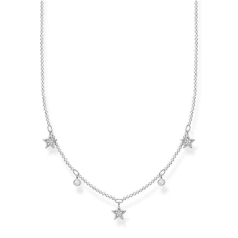 Thomas Sabo KE2075-051-14-L45v Damen-Silberhalskette Sterne 4051245488616