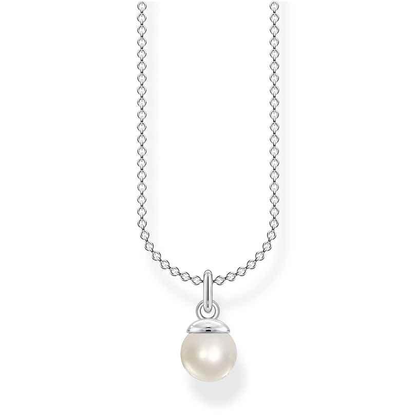 Thomas Sabo KE2076-082-14-L45v Silberhalskette für Damen Perle 4051245488623