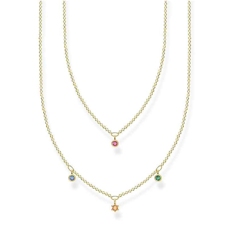 Thomas Sabo KE2078-488-7-L45v Collier für Damen mit bunten Steinen 4051245488661