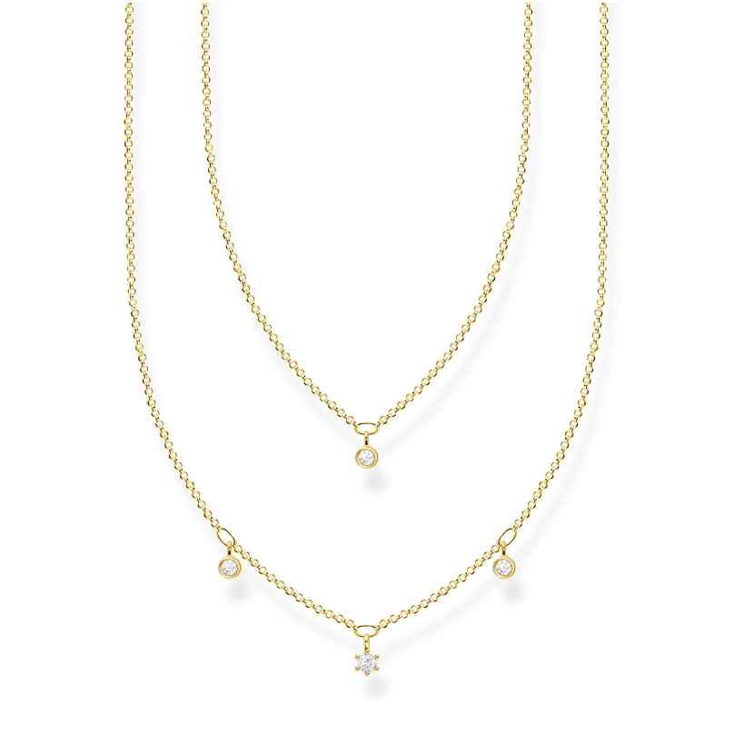 Thomas Sabo KE2078-414-14-L45v Collier für Damen mit weißen Steinen 4051245488654