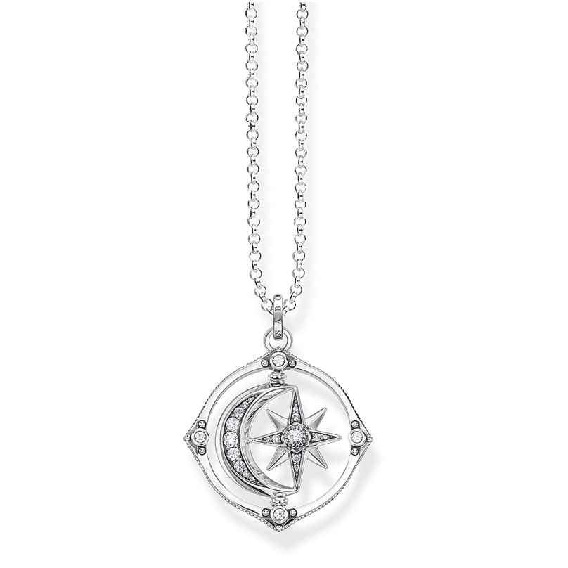 Thomas Sabo KE1983-643-14-L70 Women's Necklace Star & Moon Silver 4051245484502