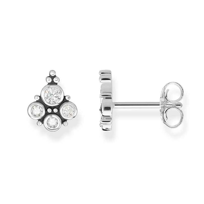Thomas Sabo H2024-643-14 Damen-Ohrstecker Royalty Weiß 4051245397550