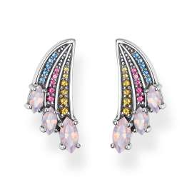 Thomas Sabo H2101-348-7 Ladies' Earrings Colourful Hummingbird Wing Silver