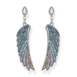 Thomas Sabo H2103-347-7 Women's Drop Earring Colourful Hummingbird Wing Silver