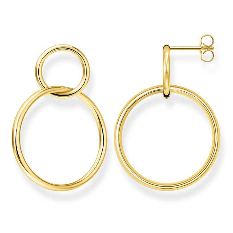 Thomas Sabo H2097-413-39 Women's Earrings Circles Gold Plated Silver 4051245474350
