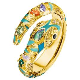 Thomas Sabo TR2286-974-7 Ladies' Ring Colourful Snake gold-plated Silver