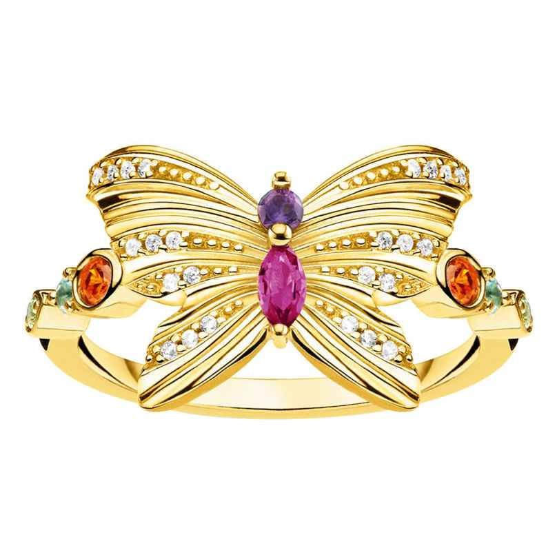 Thomas Sabo TR2285-488-7 Damen-Ring Schmetterling goldfarben