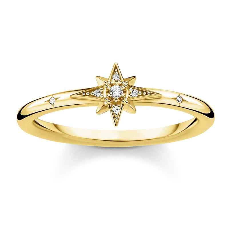 Thomas Sabo TR2317-414-14 Ring für Damen Stern goldfarben