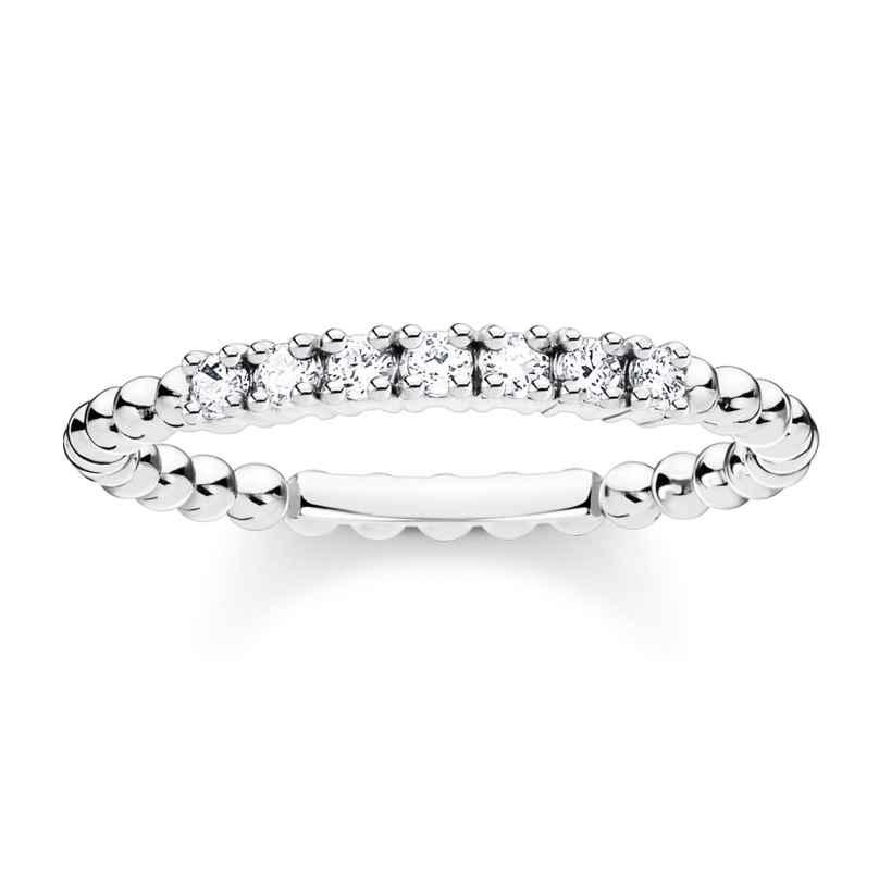 Thomas Sabo TR2323-051-14 Ladies´ Silver Ring Balls with white Stones