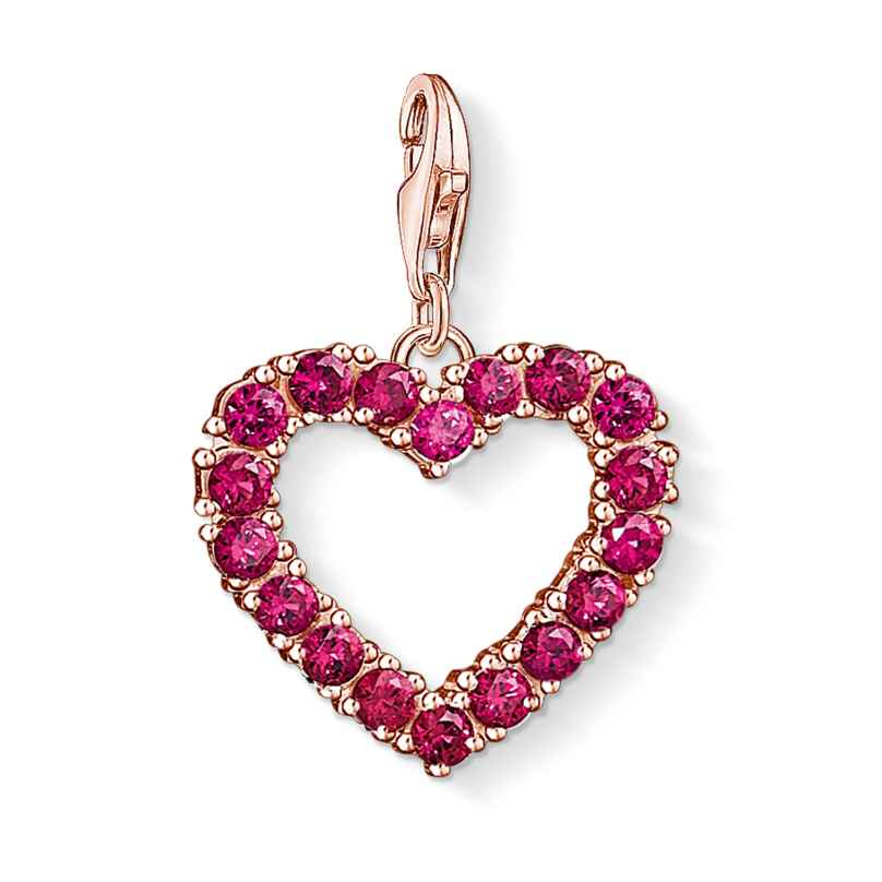 Thomas Sabo 1575-540-10 Charm-Anhänger Offenes Herz Rot 4051245374339