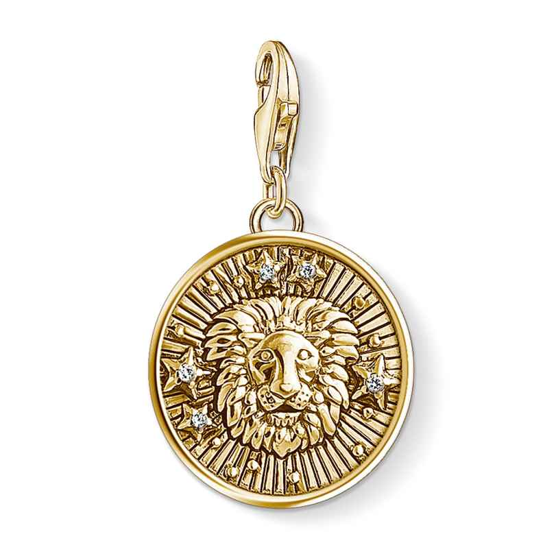 Thomas Sabo 1656-414-39 Charm Pendant Star Sign Leo Gold Plated 4051245375091