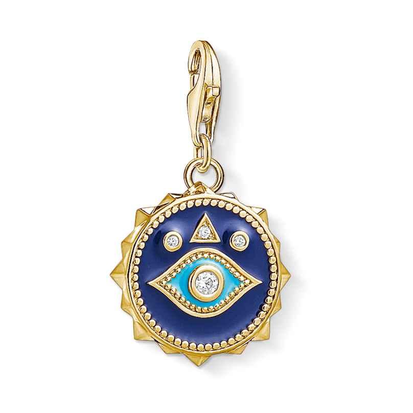 Thomas Sabo 1663-565-32 Charm-Anhänger Nazars Auge vergoldet 4051245373646