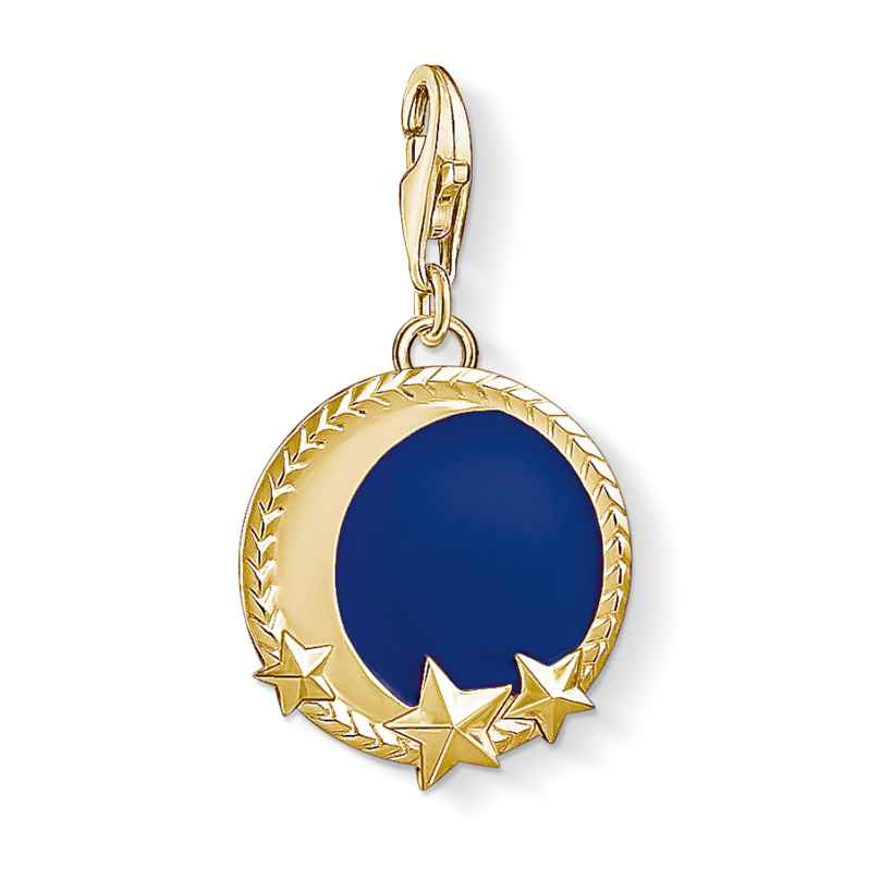 Thomas Sabo 1664-427-32 Charm Pendant Moon and Stars Gold Plated 4051245373653