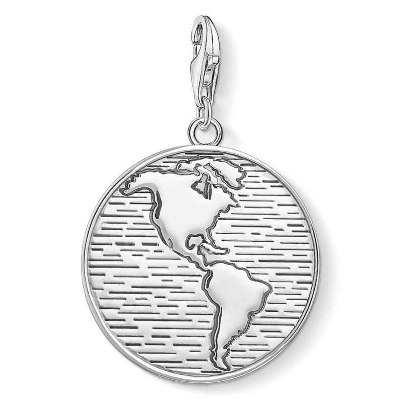 Thomas Sabo 1713-637-21 Charm-Anhänger Coin Welt 4051245403404
