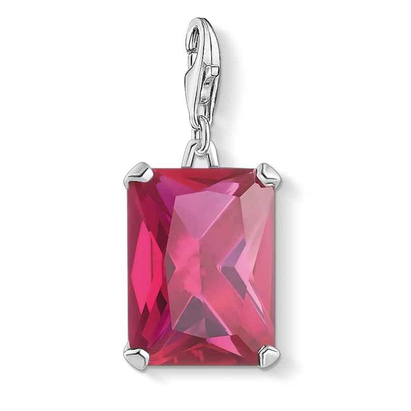 Thomas Sabo 1834-011-10 Charm-Anhänger Großer Stein Pink Silber 4051245477382