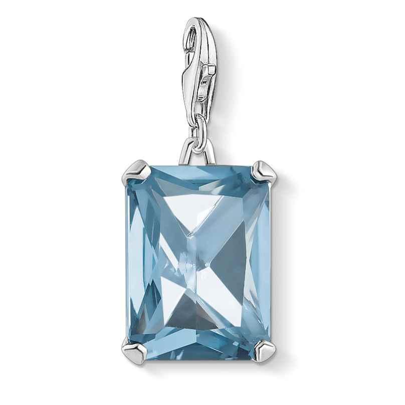 Thomas Sabo 1846-009-1 Charm-Anhänger Großer Stein Blau Silber 4051245477504