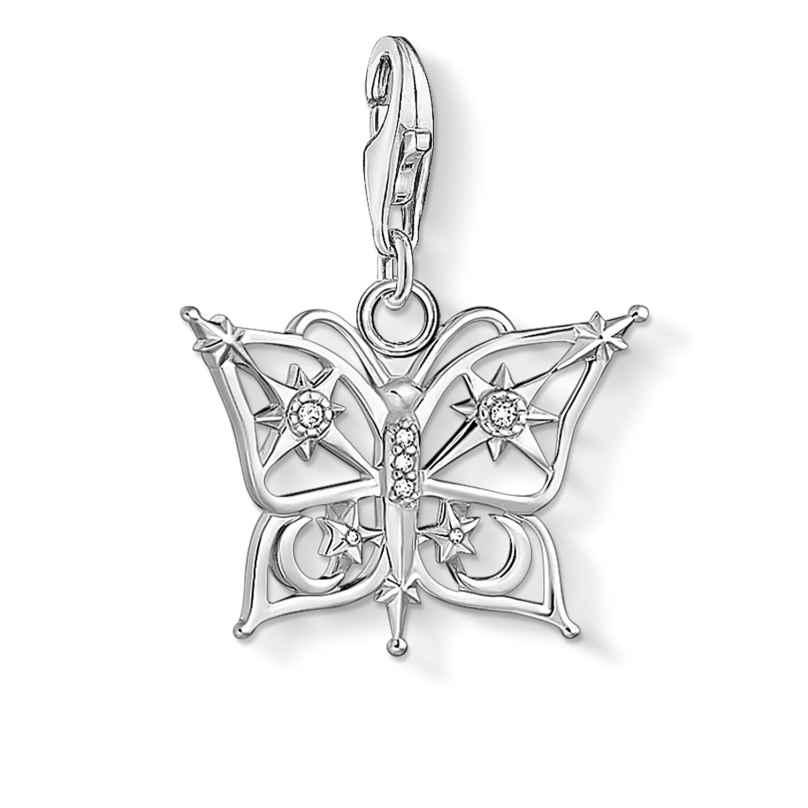 Thomas Sabo 1852-051-14 Charm-Anhänger Schmetterling Stern & Mond Silber 4051245488739