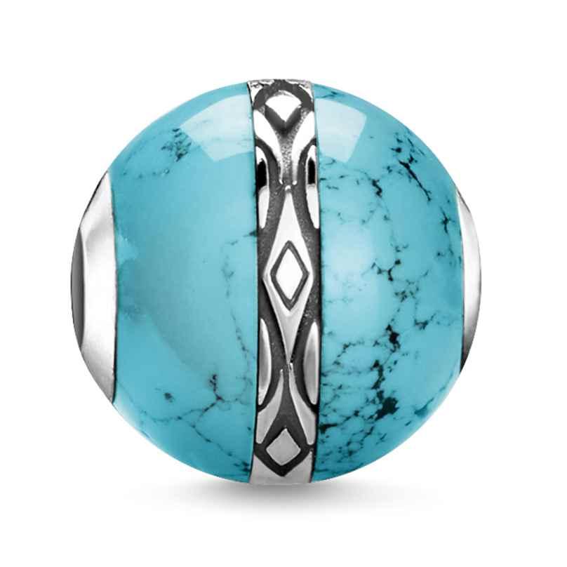 Thomas Sabo K0325-878-17 Bead Ornament Türkis 4051245437843