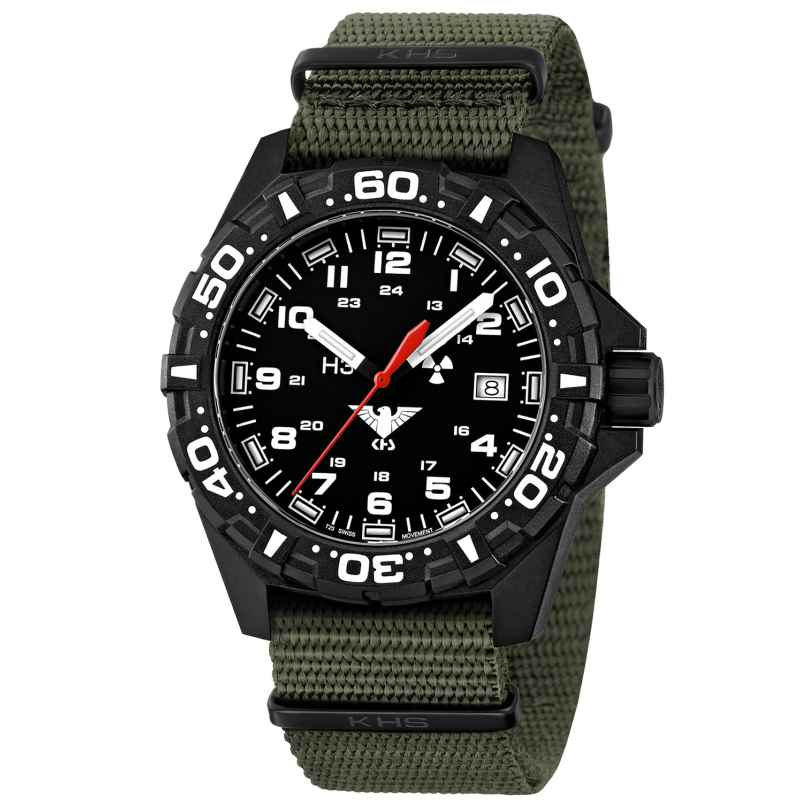KHS RE.NO Mens Watch Reaper with Nato Band Olive 4260378949523