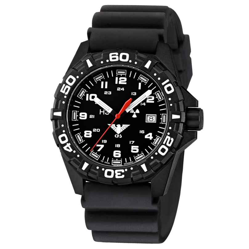 KHS RE.DB Mens Watch Reaper with Black Diver Band 4260378949578