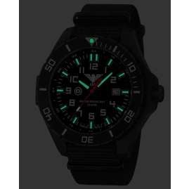 KHS LANBS.NB Mens Watch Landleader Black Steel with Nato Strap Black