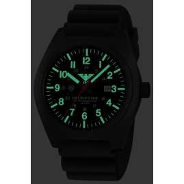 KHS INCBS.DB Herrenarmbanduhr Inceptor Black Steel
