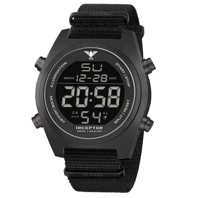 KHS KHS.INCBSD.NB Men's Watch Inceptor Steel Digital 4260446989215