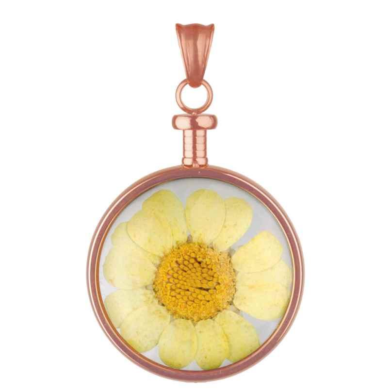 Blumenkind BL01MROGE Blüten-Anhänger roségold/gelb 9120044239622