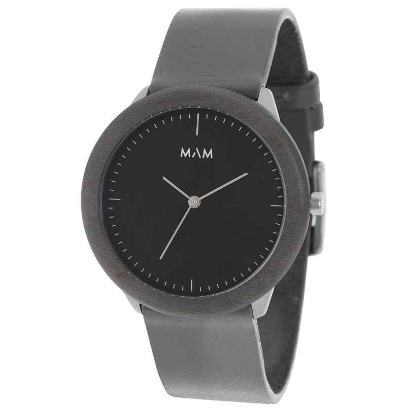 MAM Originals 78 Herrenarmbanduhr Stainless Dark Maple Graphite 8436564880789