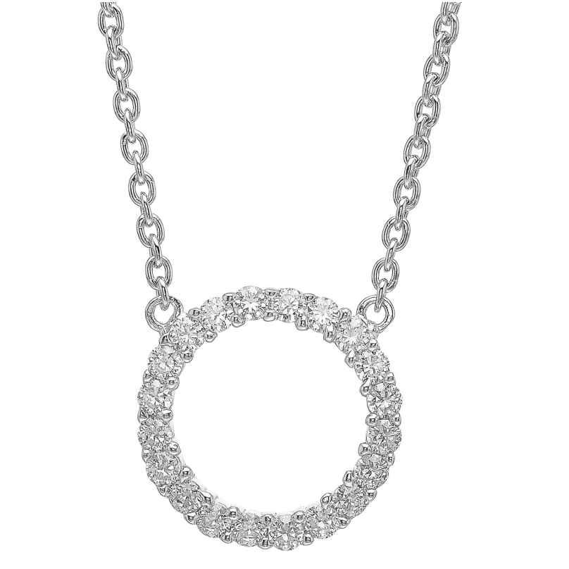 Sif Jakobs Jewellery SJ-C338(1)-CZ Silver Necklace Biella Grande 5710698018335