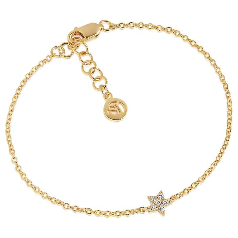 Sif Jakobs Jewellery SJ-B2947-CZ(YG) Ladies´ Silver Bracelet Mira Gold-Plated 5710698064394